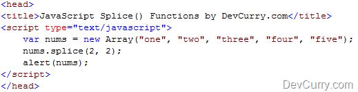 javascript array splice function